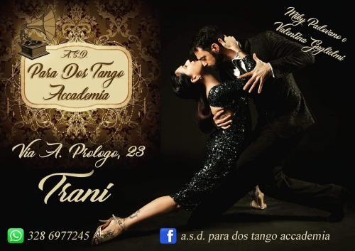 """Trani: un'accademia stabile di tango argentino in città. È l'A.S.D. """"Para Dos Tango"""" di Miky Padovano e Valentina Guglielmi"""