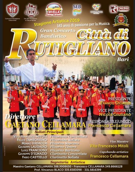 GRAN CONCERTO BANDISTICO «CITTÀ DI RUTIGLIANO» ALLA FESTA DEL CROCIFISSO