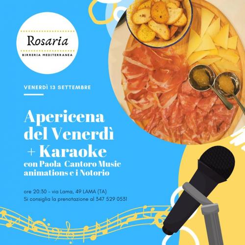 Apericena + Karaoke