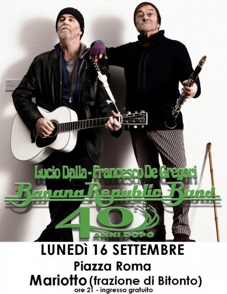BananaRepublicBand - Omaggio a Lucio Dalla & Francesco De Gregori a Mariotto