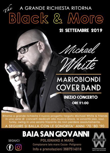 Black & More Mario Biondi cover  band live@Baia San Giovanni a Polignano a Mare