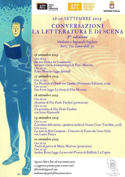 """Al Via la Terza Edizione di """"Conversazioni – la Letteratura è di Scena"""""""