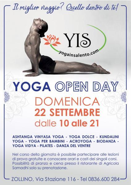 YIS OPEN DAY. Lezioni Yoga di prova gratuite