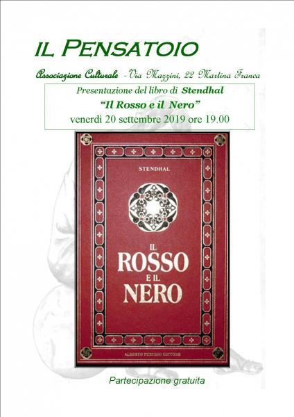 """Presentazione del libro """"Il Rosso e il  Nero"""" di  Stendhal"""