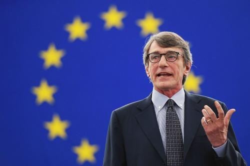 David Sassoli, presidente del Parlamento Europeo, alla Fiera del Levante