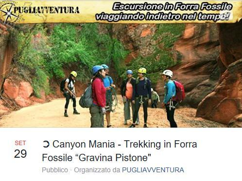 Canyon Mania - Trekking in forra fossile a Gravina Pistone