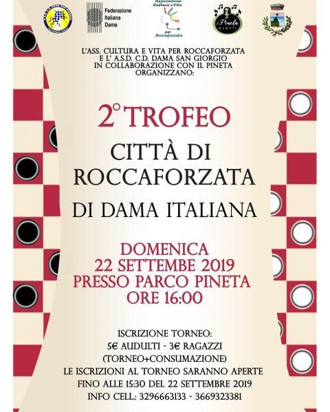Secondo trofeo CITTÀ DI ROCCAFORZATA di Dama Italiana