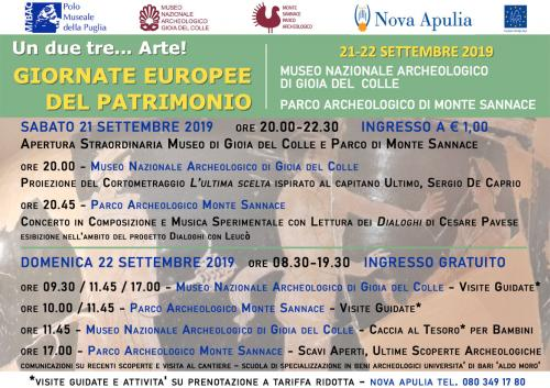 Giornate Europee del Patrimonio 2019 - Gioia del Colle