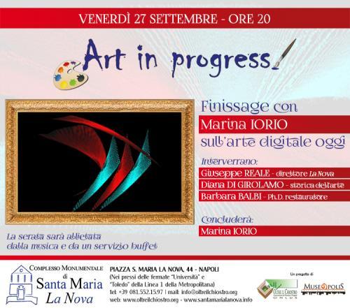 Art in progress presenta Finissage con Marina IORIO sull'arte digitale oggi