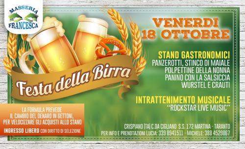 Festa della Birra in Masseria Francesca a Crispiano