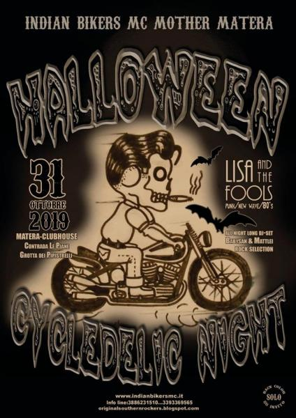 """Halloween Cycledelic Night 2019""by INDIAN BIKERS MC MOTHER MATERA"