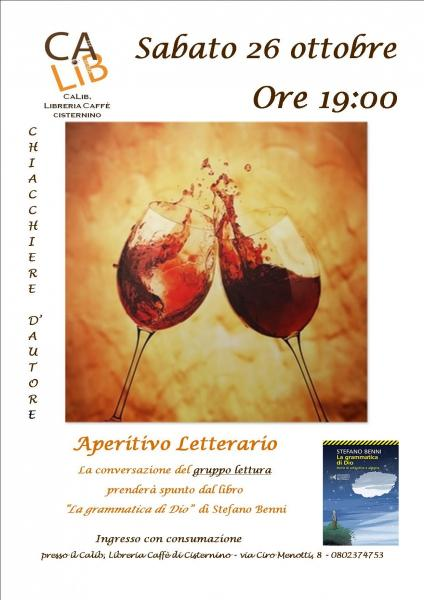 Chiacchiere D'autore - Aperitivo Letterario - Gruppo Lettura