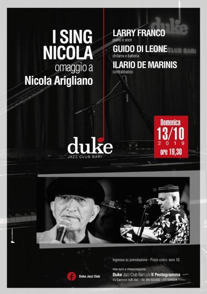 """""""I sing Nicola"""" - omaggio a Nicola Arigliano"""