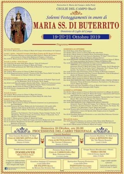 Solenni festeggiamenti in onore di Santa Maria di Buterrito presso Ceglie del Campo