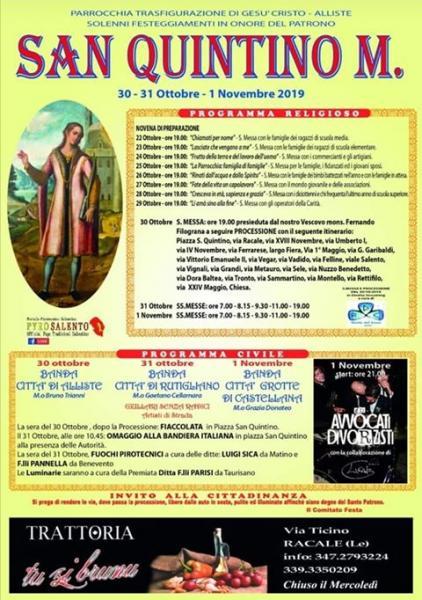 Festa patronale di San Quintino martire