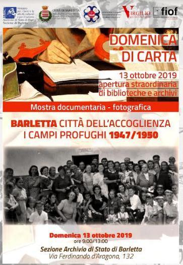 L'Archivio di Stato di Barletta apre le sue porte per la Domenica di Carta