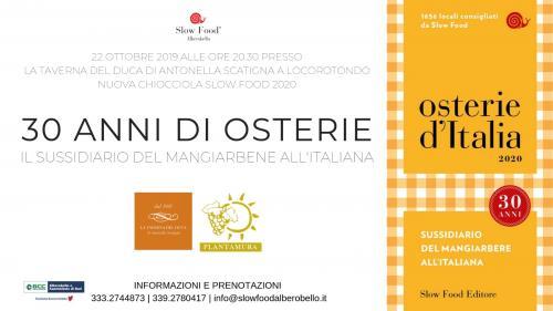 30 anni di Osterie – Guida del mangiarbene all'italiana