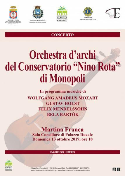 Concerto Dell'orchestra D'archi Del Conservatorio Di Monopoli