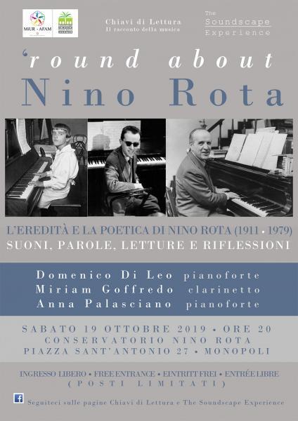 'Round About  Nino Rota / L'eredità e la poetica di Nino Rota (1911 -1979). Suoni, parole, letture e riflessioni