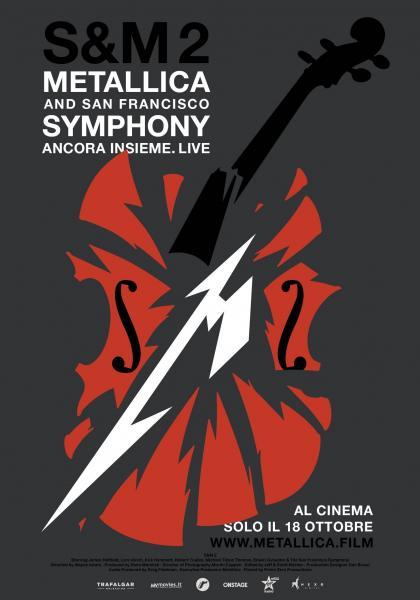 METALLICA & SAN FRANCISCO SYMPHONY S&M2 Film concerto inedito Solo venerdì 18 ottobre al VIGNOLA di POLIGNANO A MARE