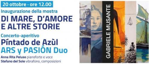 """""""Di mare, d'amore e altre storie"""" mostra di Gabriele Musante"""
