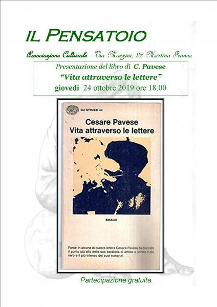"""Presentazione del libro """"Vita attraverso le lettere"""" di C. Pavese"""