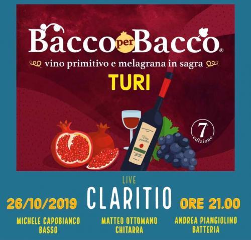 CLARITIO live | Bacco per Bacco - primitivo e melagrana in sagra (Turi)