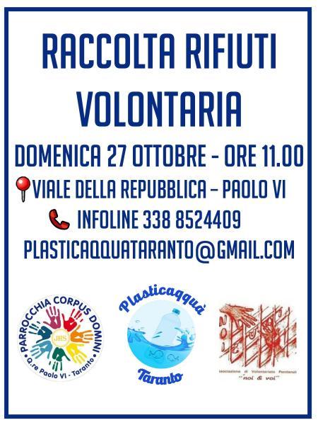 Raccolta rifiuti volontaria al quartiere Paolo VI