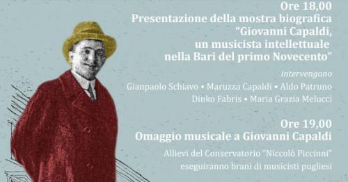 Omaggio a Giovanni Capaldi: una mostra, un concerto e un libro