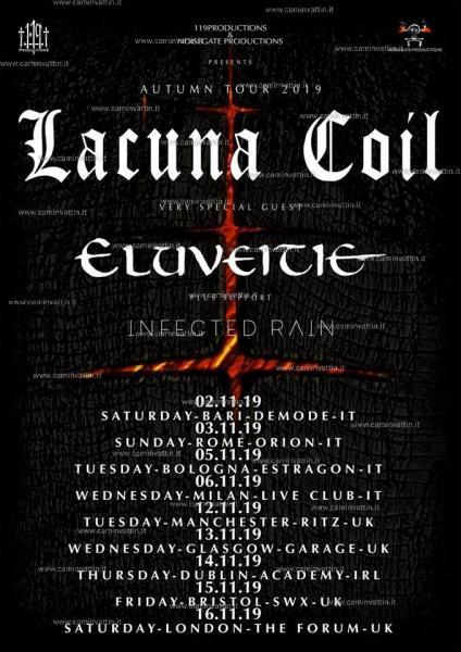 Lacuna Coil live concert a Modugno