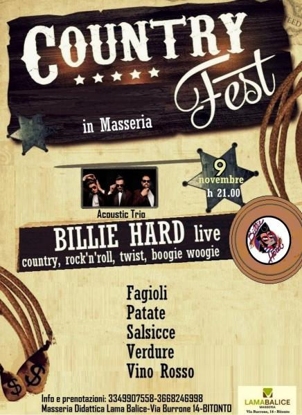 COUNTRY FEST - Billie Hard Live