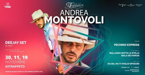 SABATO 30.11 Andrea Montovoli at Trappeto (Monopoli) + Cena con Live DUAL BAND