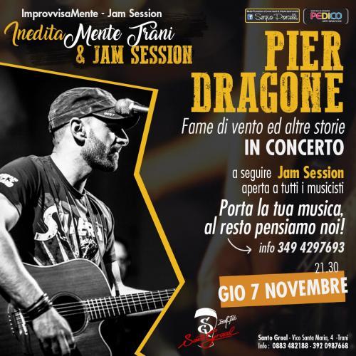 IneditaMente Trani & jam session - Pier Dragone live concert