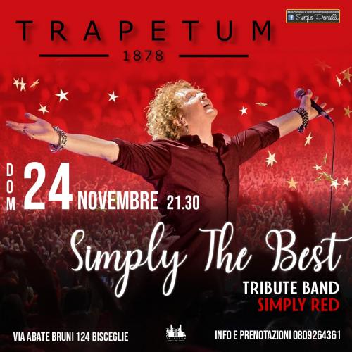Simply the Best - Simply Red tribute band a Bisceglie