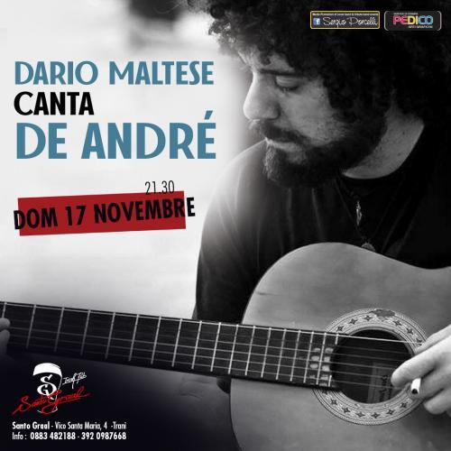 Dario Maltese canta De André a Trani