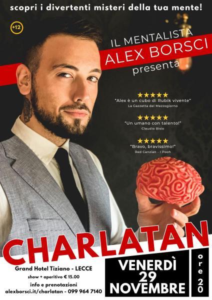 Alex Borsci CHARLATAN, serata di mentalismo
