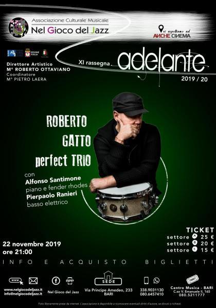 """Il """"Perfect Trio"""" di Roberto Gatto sul palco di Bari"""