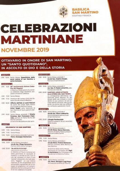 Celebrazioni di novembre per il patrono San Martino di Tours