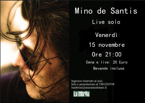 Capotavola: Cantautori a tavola con Mino de Santis!