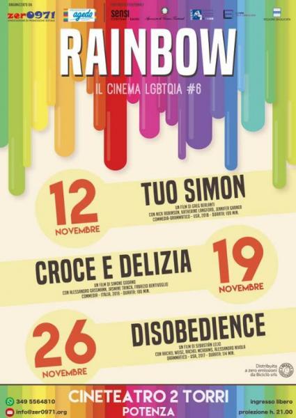 """""""Rainbow, il Cinema LGBTQIA"""", prende il via la sesta edizione della rassegna"""