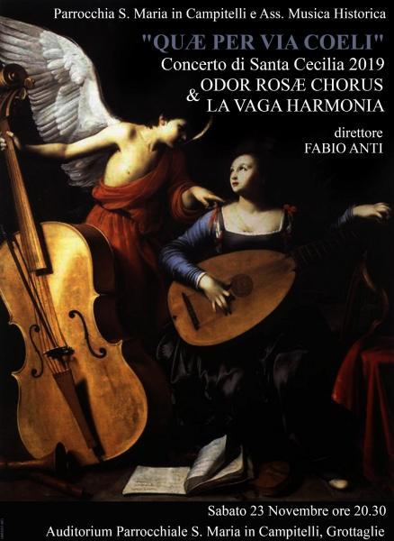 """Concerto di Santa Cecilia 2019 """"Quae per via Coeli"""""""