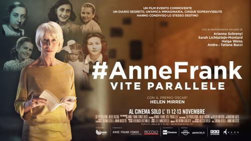 #AnneFrank – Vite parallele Raccontato dal Premio Oscar@ Helen Mirren solo il 11-12-13 novembre al VIGNOLA