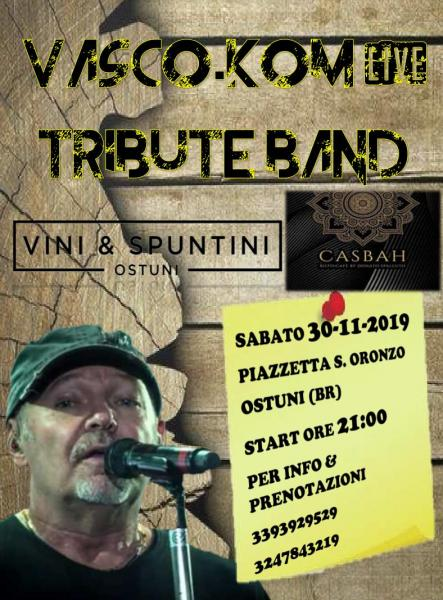 Vasco.kom live Tribute Band in Concerto