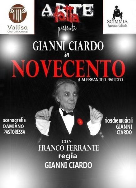 """Gianni Ciardo in """"Novecento"""" di Baricco"""