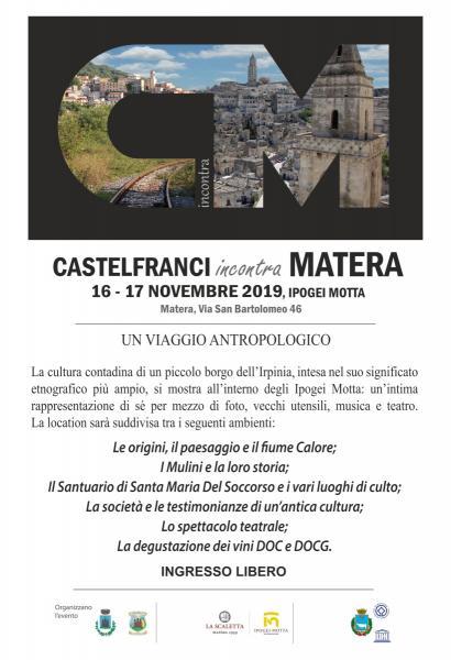 Castelfranci incontra Matera
