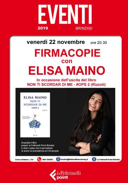 Elisa Maino a Brindisi
