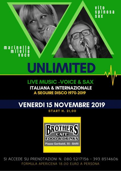 UNLIMITED - Live & Disco (Marinella Milella voce & Vito Spinosa sax)