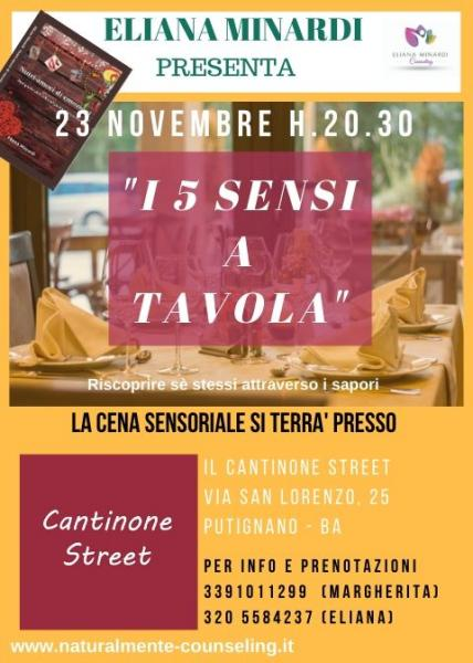 I 5 Sensi a Tavola- La cena Sensoriale