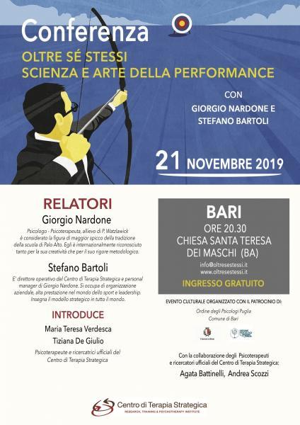 """Giorgio Nardone a Bari: Conferenza sul librio """"oltre se stessi"""""""