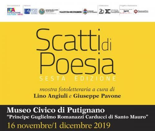 """""""Scatti di poesia"""", mostra fotoletteraria a Putignano"""